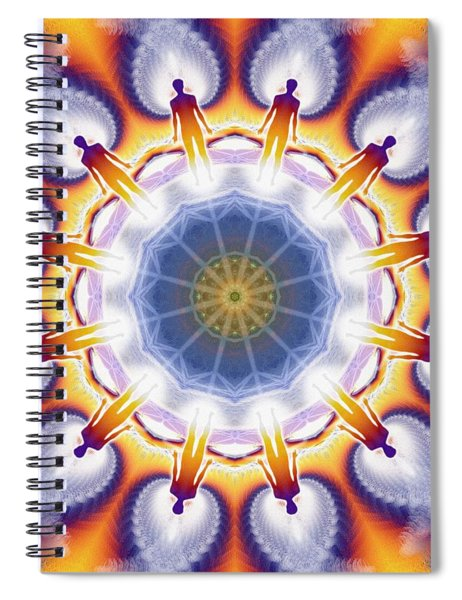 Cosmic Spiral Kaleidoscope 34 Spiral Notebook