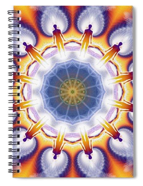 Spiral Notebook featuring the digital art Cosmic Spiral Kaleidoscope 34 by Derek Gedney