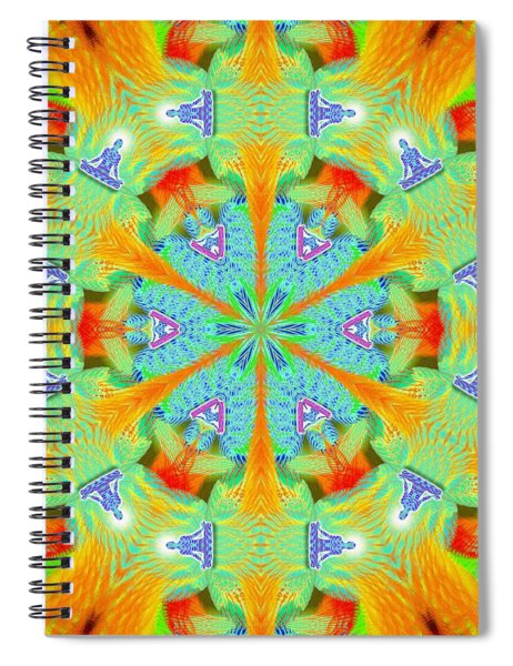 Cosmic Spiral Kaleidoscope 41 Spiral Notebook