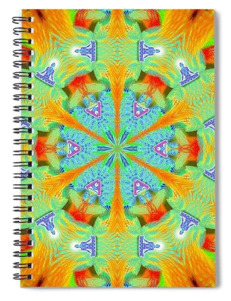Spiral Notebook featuring the digital art Cosmic Spiral Kaleidoscope 41 by Derek Gedney