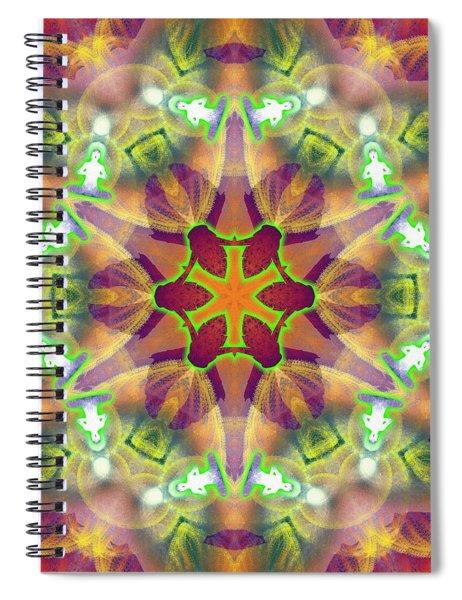 Spiral Notebook featuring the digital art Cosmic Spiral Kaleidoscope 42 by Derek Gedney