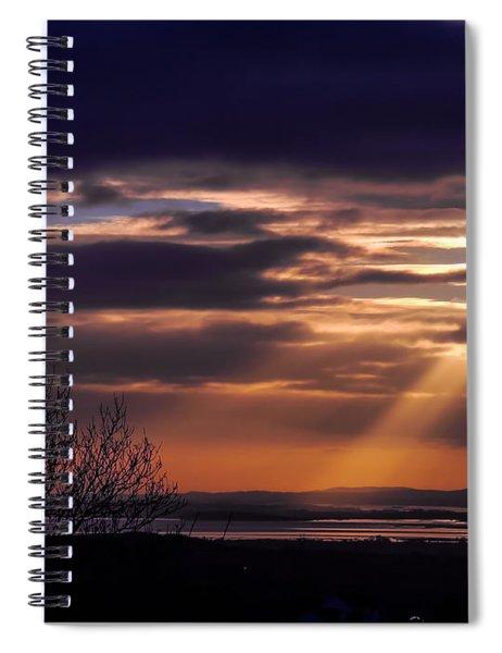 Cosmic Spotlight On Shannon Airport Spiral Notebook