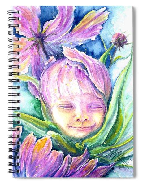 Cosmos Bud Spiral Notebook
