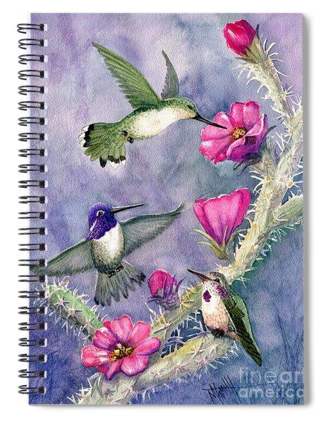 Costa Hummingbird Family Spiral Notebook