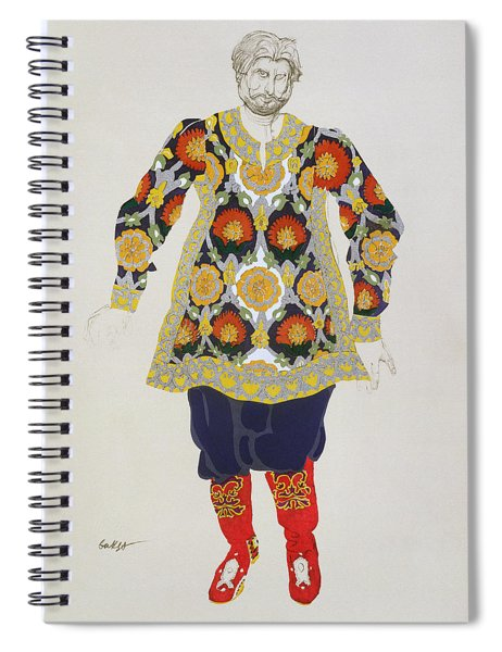 Costume Design For A Man, From Sadko Spiral Notebook