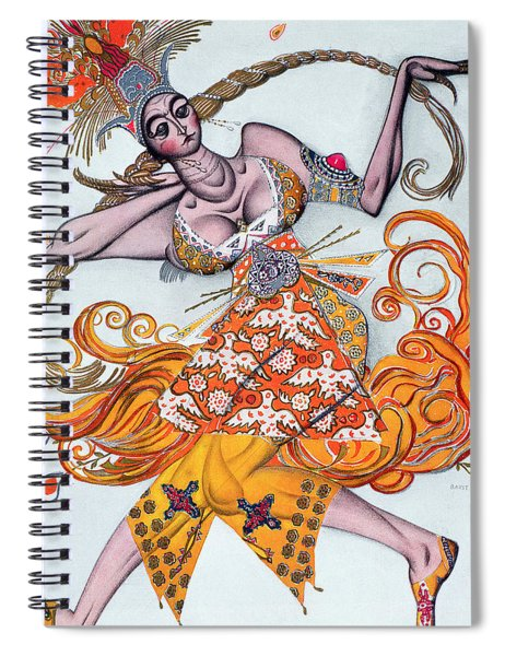 Costume Design For A Pas De Deux Danced Spiral Notebook