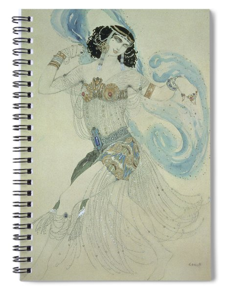 Costume Design For Salome In Dance Of The Seven Veils, 1909 Wc Spiral Notebook