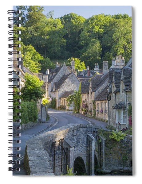 Spiral Notebook featuring the photograph Cotswold Village by Brian Jannsen