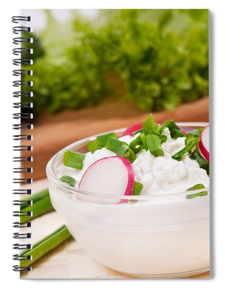 Cottage Cheese With Radish And Chives  Spiral Notebook