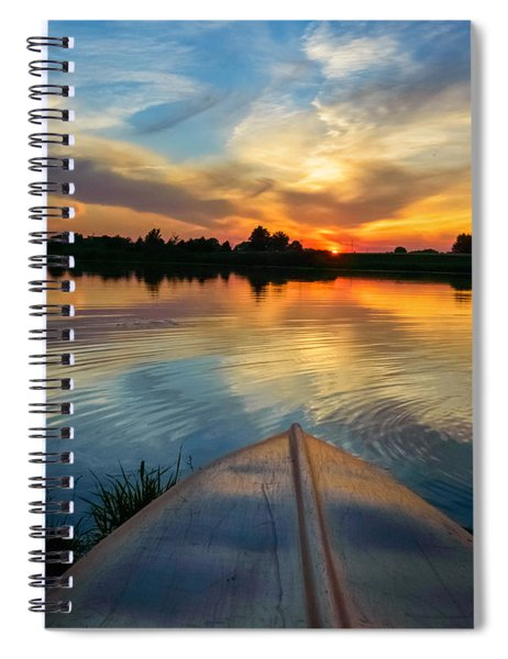 Spiral Notebook featuring the photograph Cottage Country's Silhouette by Garvin Hunter