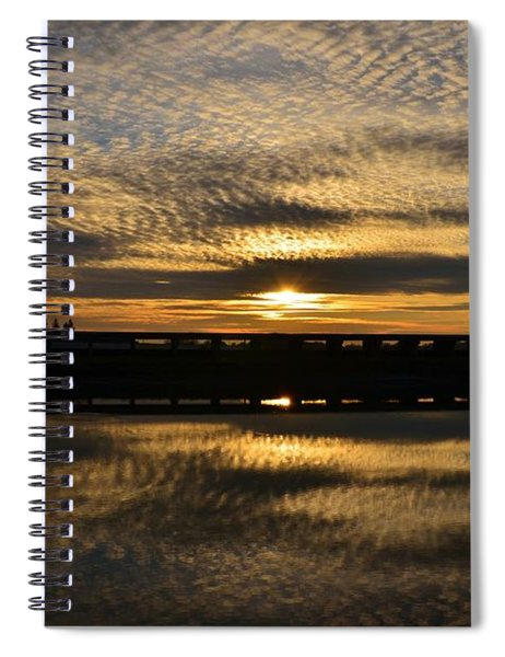 Cotton Ball Clouds Sunset Spiral Notebook