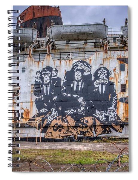 Council Of Monkeys Spiral Notebook
