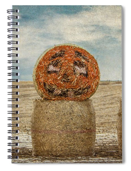 Spiral Notebook featuring the photograph Country Halloween by Patti Deters