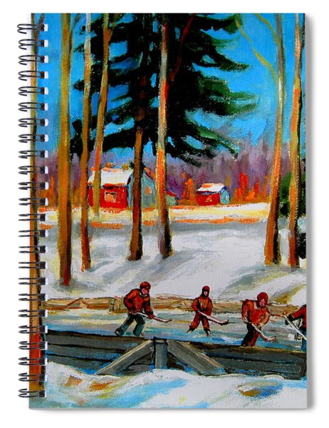 Country Hockey Rink Spiral Notebook