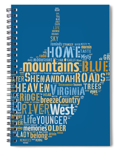 Country Roads 3 Spiral Notebook