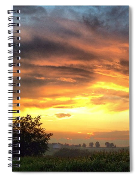 Country Scene From Hilltop To Hilltop Spiral Notebook