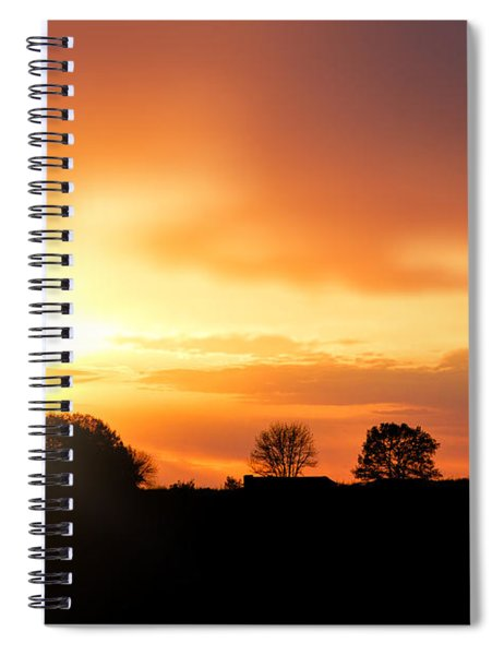 Country Sunset Silhouette Spiral Notebook