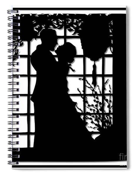 Couple In Love Silhouette Spiral Notebook