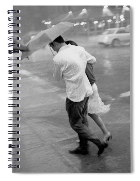 Couple In The Rain Spiral Notebook