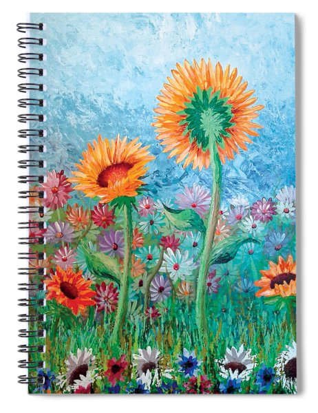 Courting Sunflowers Spiral Notebook