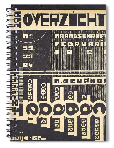 Cover For The Magazine Het Overzicht Spiral Notebook