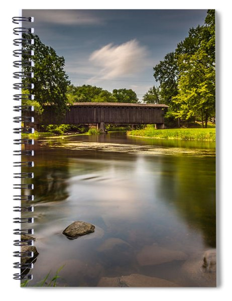 Covered Bridge Long Exposure Spiral Notebook