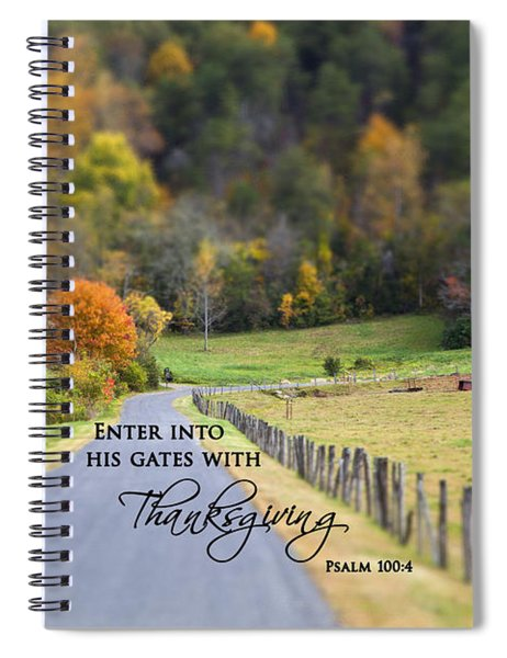 Cow Pasture With Scripture Spiral Notebook
