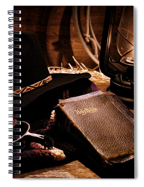 Cowboy Bible Spiral Notebook