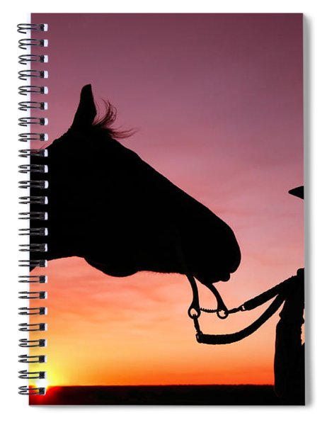 Cowgirl Sunset Spiral Notebook