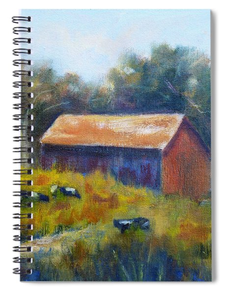 Cows By The Barn Spiral Notebook
