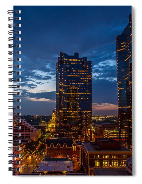 Cowtown At Night Spiral Notebook