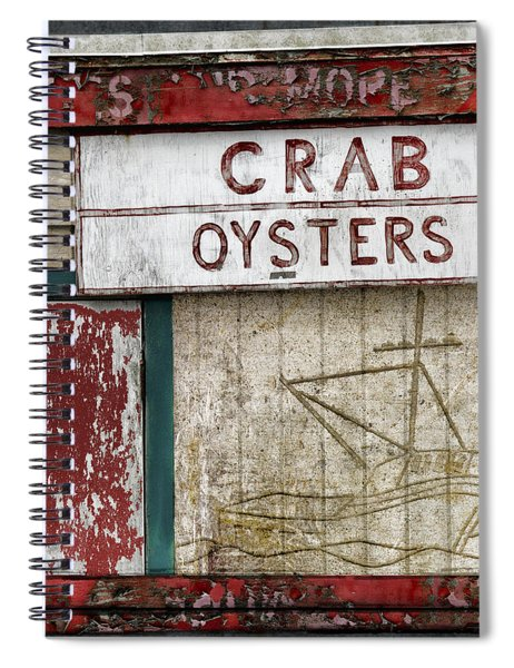 Crab And Oysters Spiral Notebook