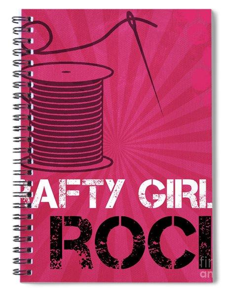 Crafty Girls Rock Spiral Notebook