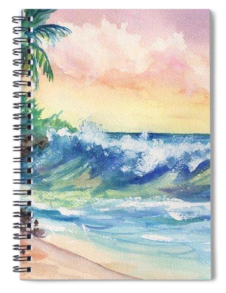 Crashing Waves At Sunrise Spiral Notebook