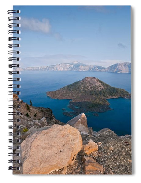 Crater Lake In The Evening Spiral Notebook