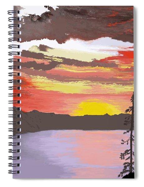 Crater Lake Spiral Notebook