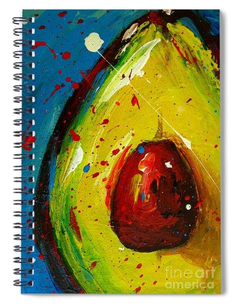 Crazy Avocado 4 - Modern Art Spiral Notebook