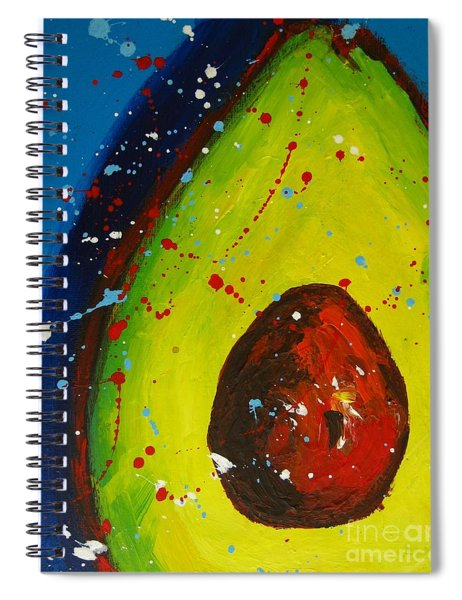 Crazy Avocado V Spiral Notebook