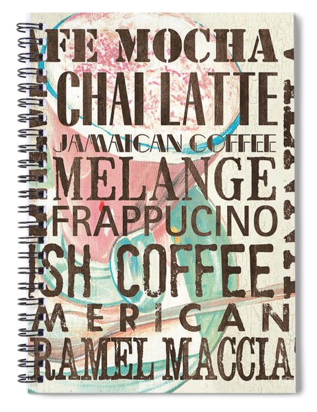 Cream Coffee Of The Day 1 Spiral Notebook by Debbie DeWitt