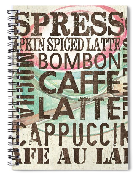 Cream Coffee Of The Day 2 Spiral Notebook by Debbie DeWitt