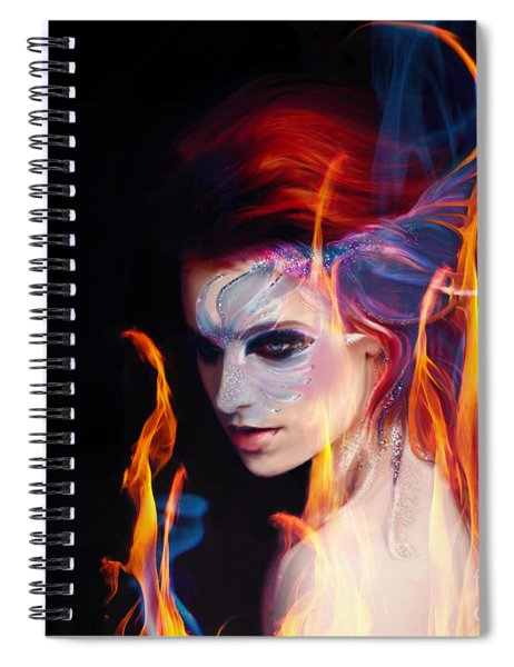 Creation Fire And Flow Spiral Notebook