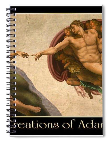 Creations Of Adam Spiral Notebook
