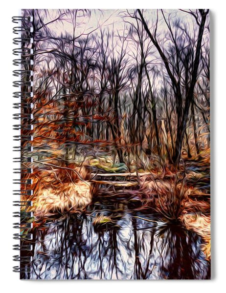 Creek At Pyramid Mountain Spiral Notebook