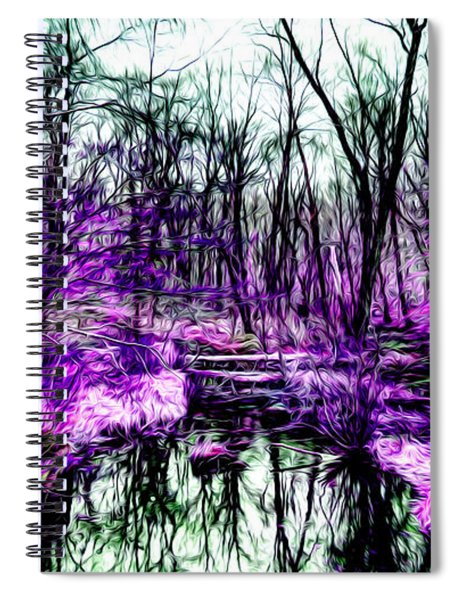 Creek By Purple Spiral Notebook