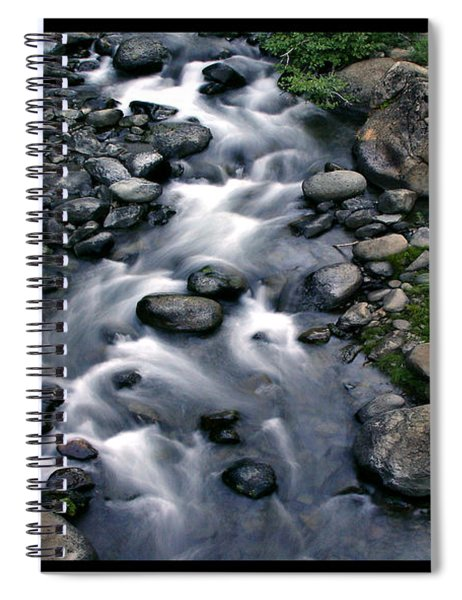 Creek Flow Polyptych Spiral Notebook