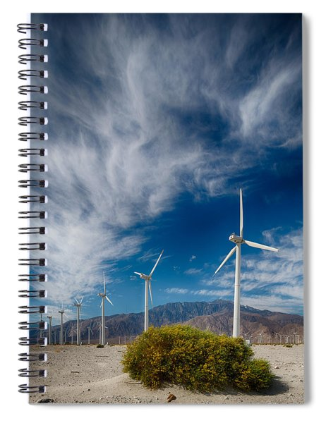 Creosote And Wind Turbines Spiral Notebook