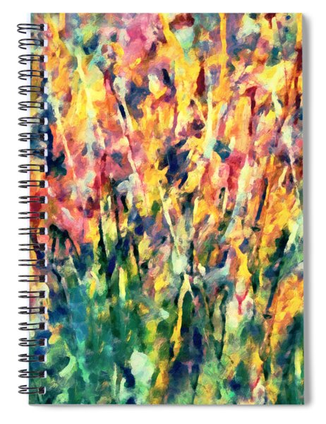 Crescendo Of Spring Abstract Spiral Notebook