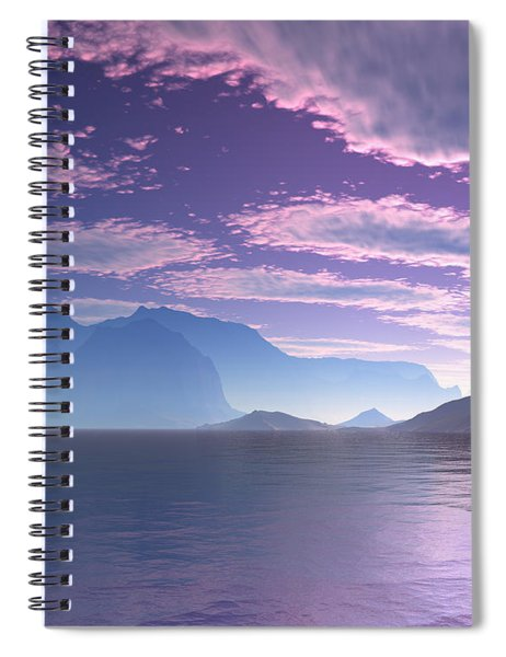 Crescent Bay Alien Landscape Spiral Notebook