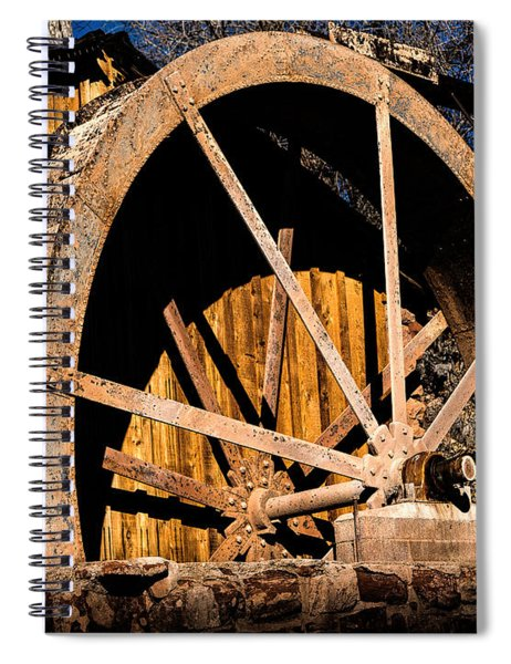 Old Building And Water Wheel Spiral Notebook