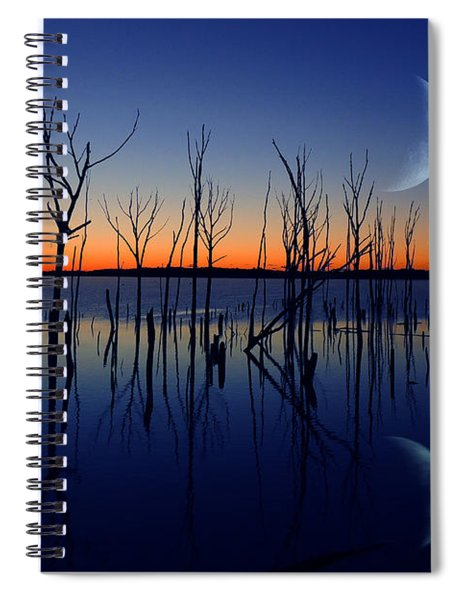 The Crescent Moon Spiral Notebook